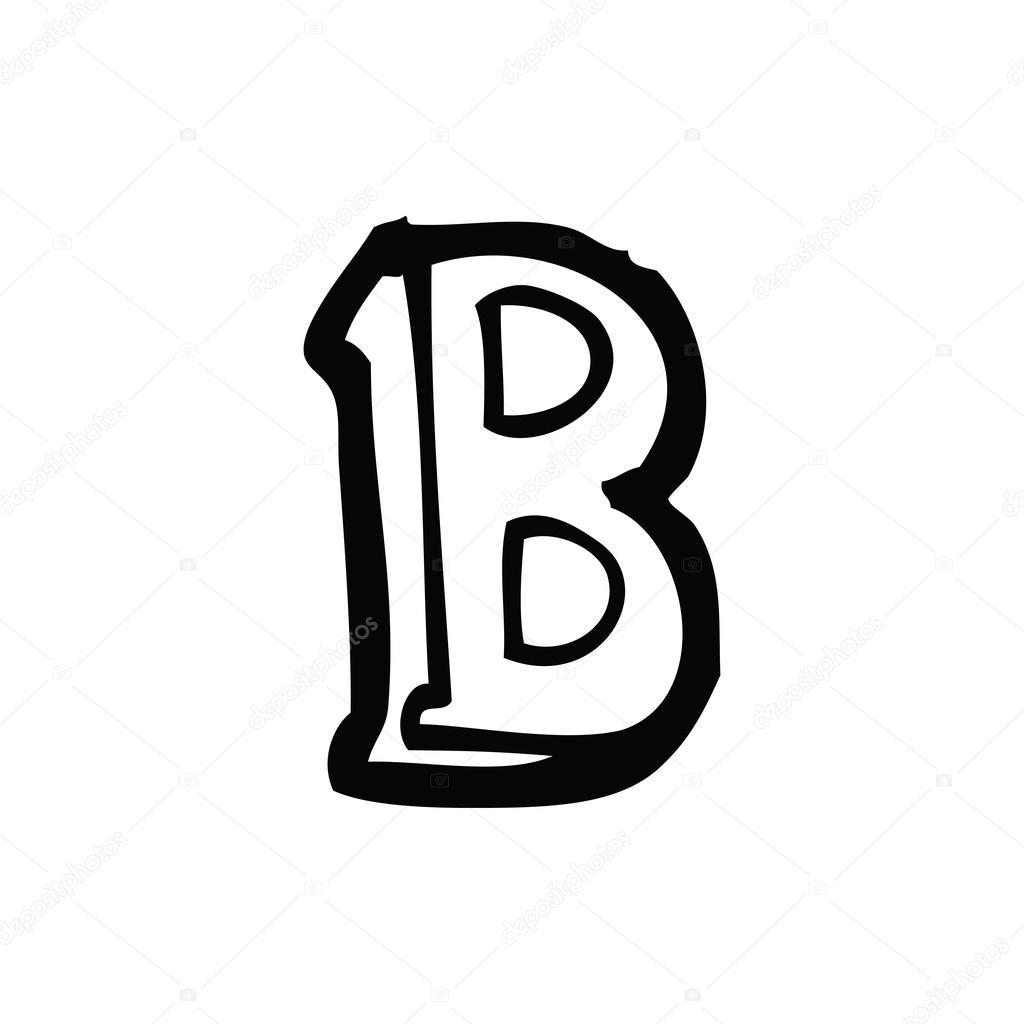 desenhos animados letra b vetores de stock lineartestpilot 19583895