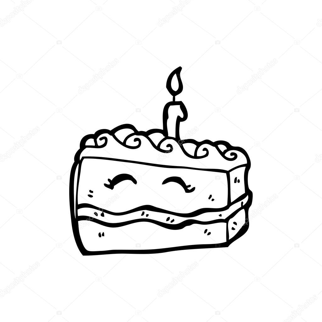 Alles Gute Zum Geburtstag Kuchen Cartoon Stockvektor