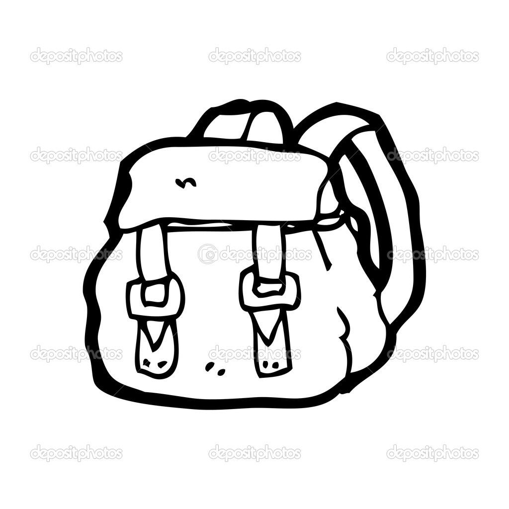 f8ca172955 batoh kreslený — Stock Vektor © lineartestpilot  19585113