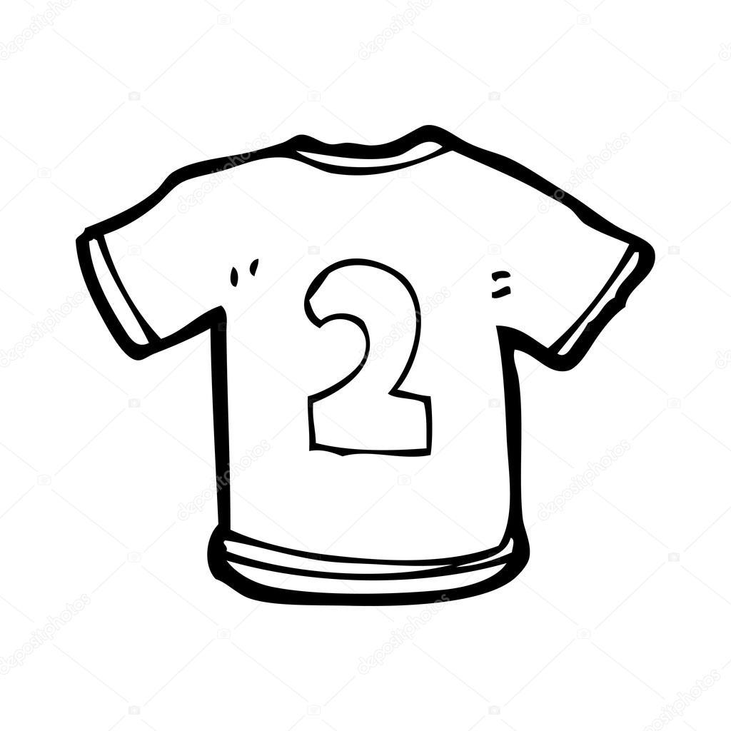 ba42021c45426 Camiseta de fútbol dibujo - vector  camisetas de futbol — Vector de ...