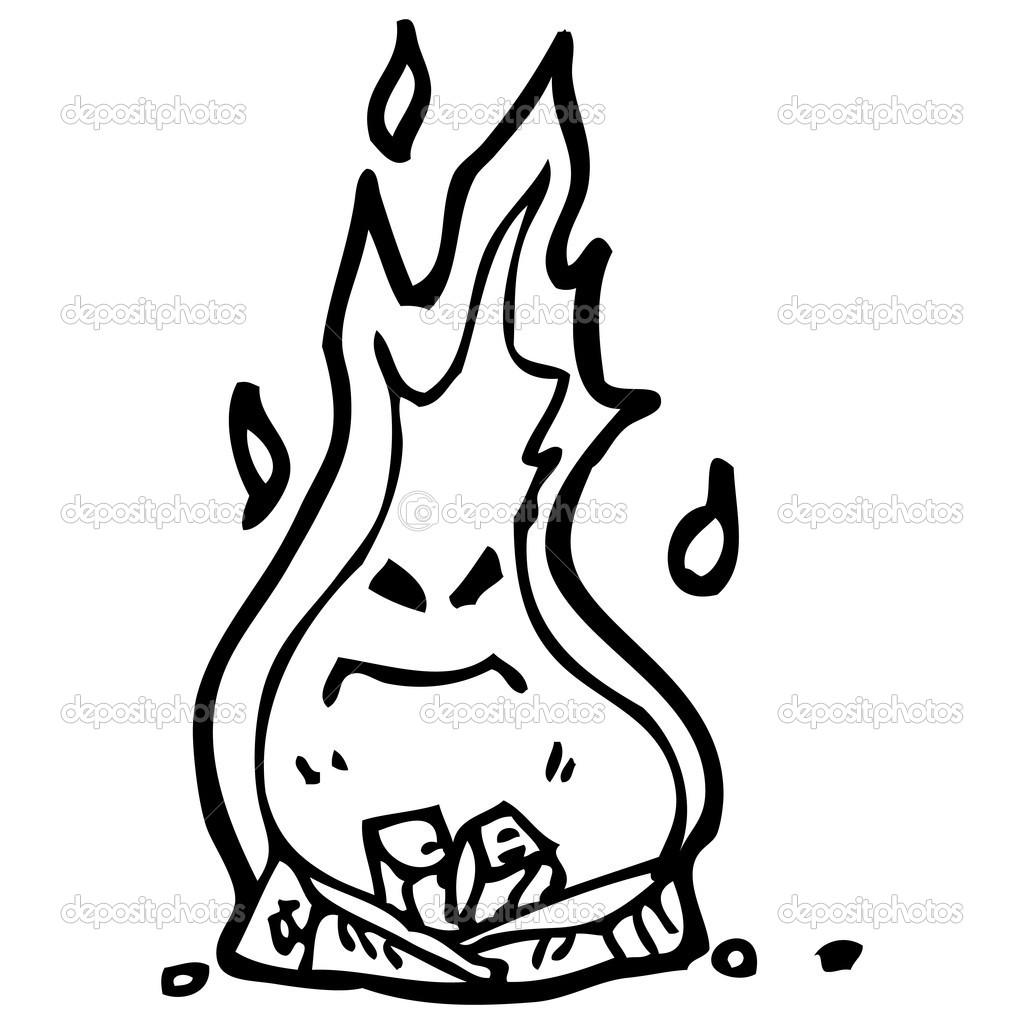 Dibujos Dragones De Fuego A Lapiz Dibujos Animados De Fuego