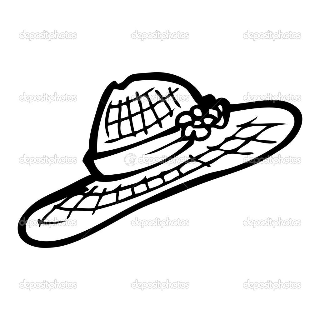 8d2060f744877 desenho de chapéu de palha — Vetores de Stock © lineartestpilot ...
