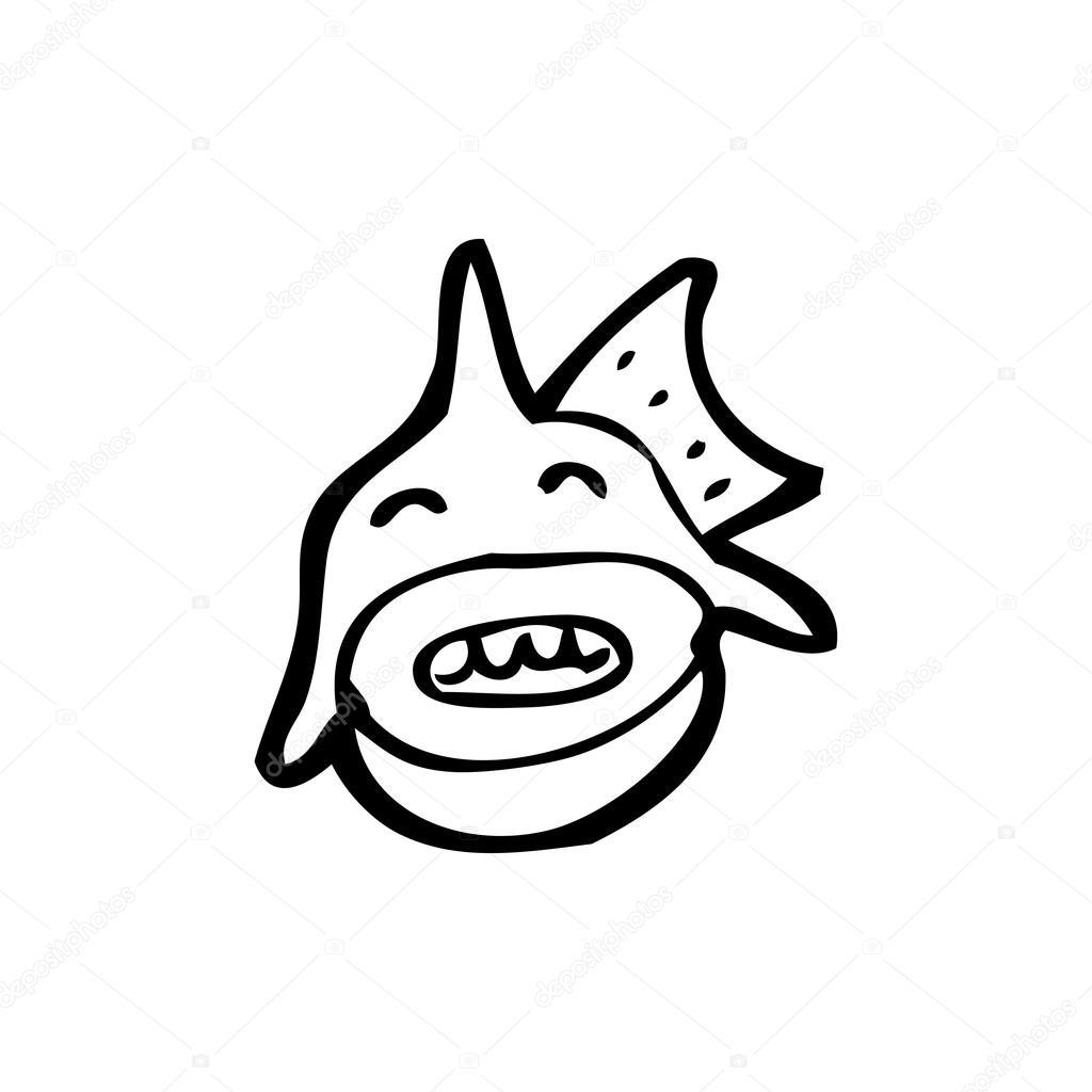 dibujos animados de pirañas feliz — Archivo Imágenes Vectoriales ...