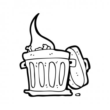 smelly trash can cartoon