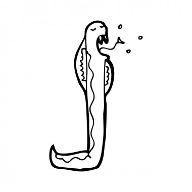 coiled snake cartoon
