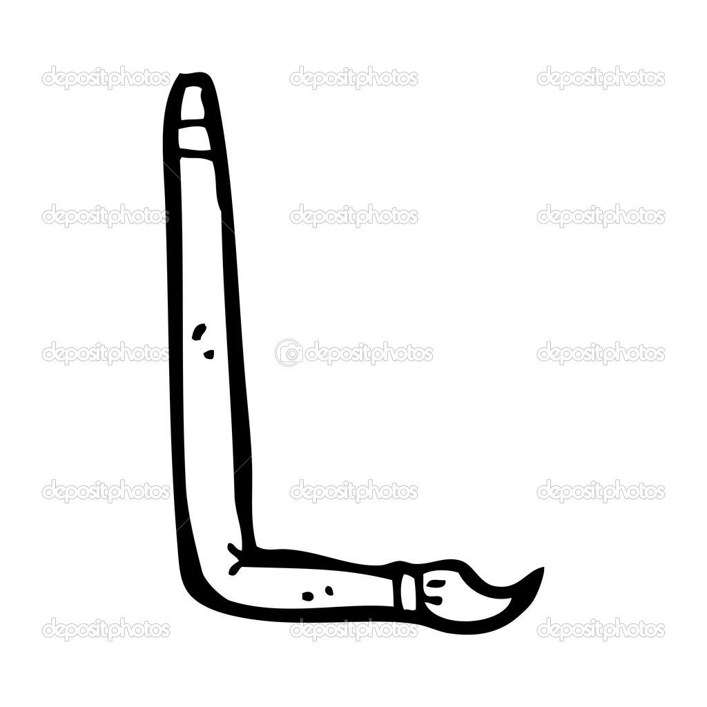 Forma De La Letra L Pincel De Dibujos Animados En Forma De Letra L