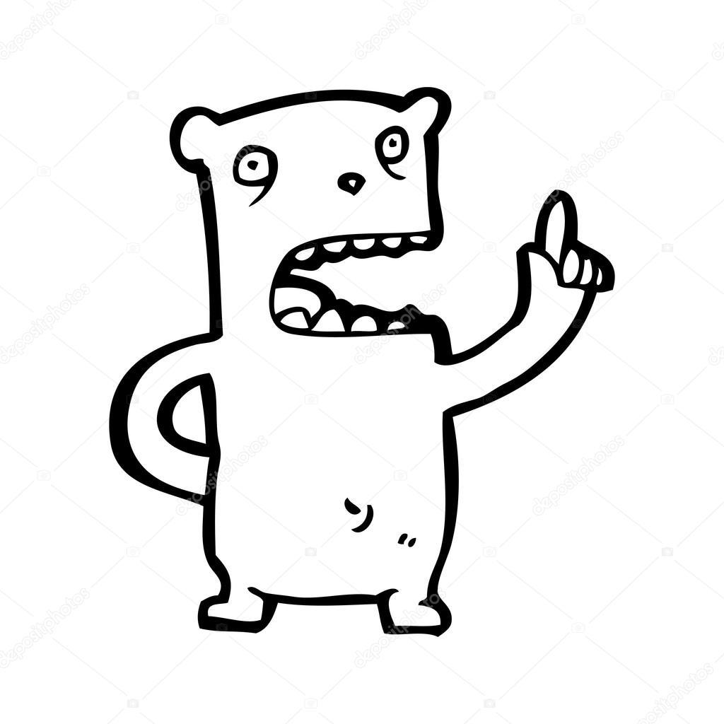 Cartone animato di domanda chiedendo piccolo orso