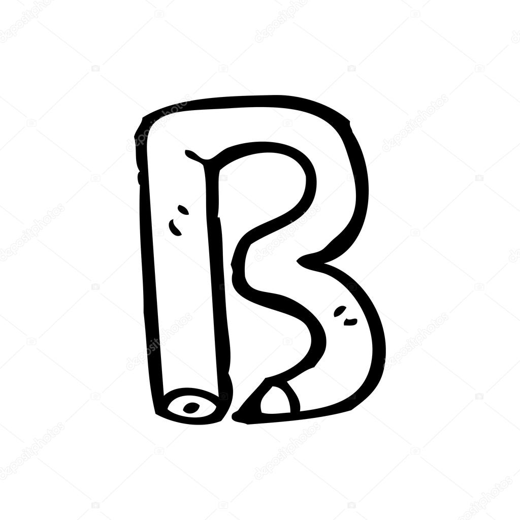 lápis desenho letra b vetores de stock lineartestpilot 19763437