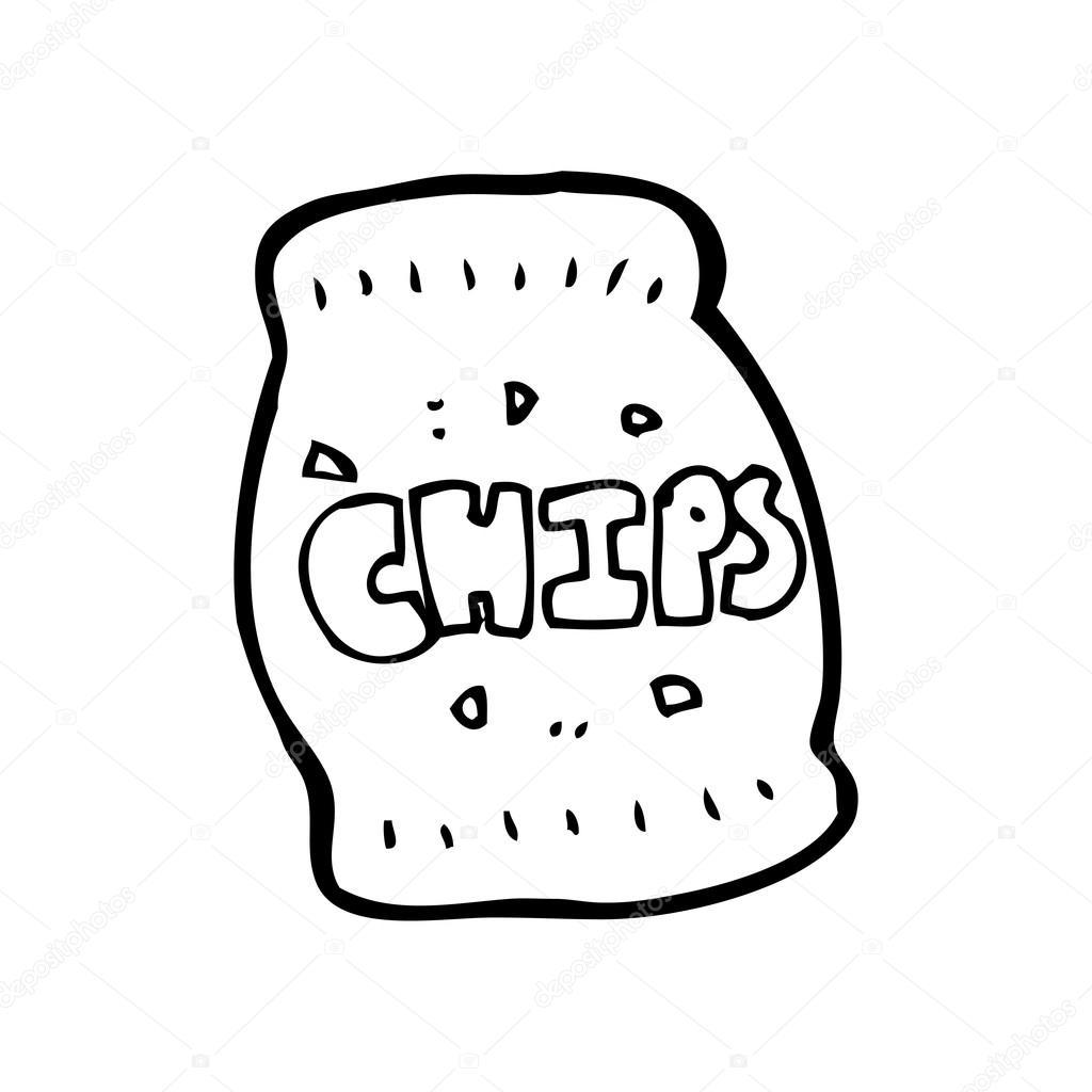 pacote de desenho de chips vetores de stock lineartestpilot