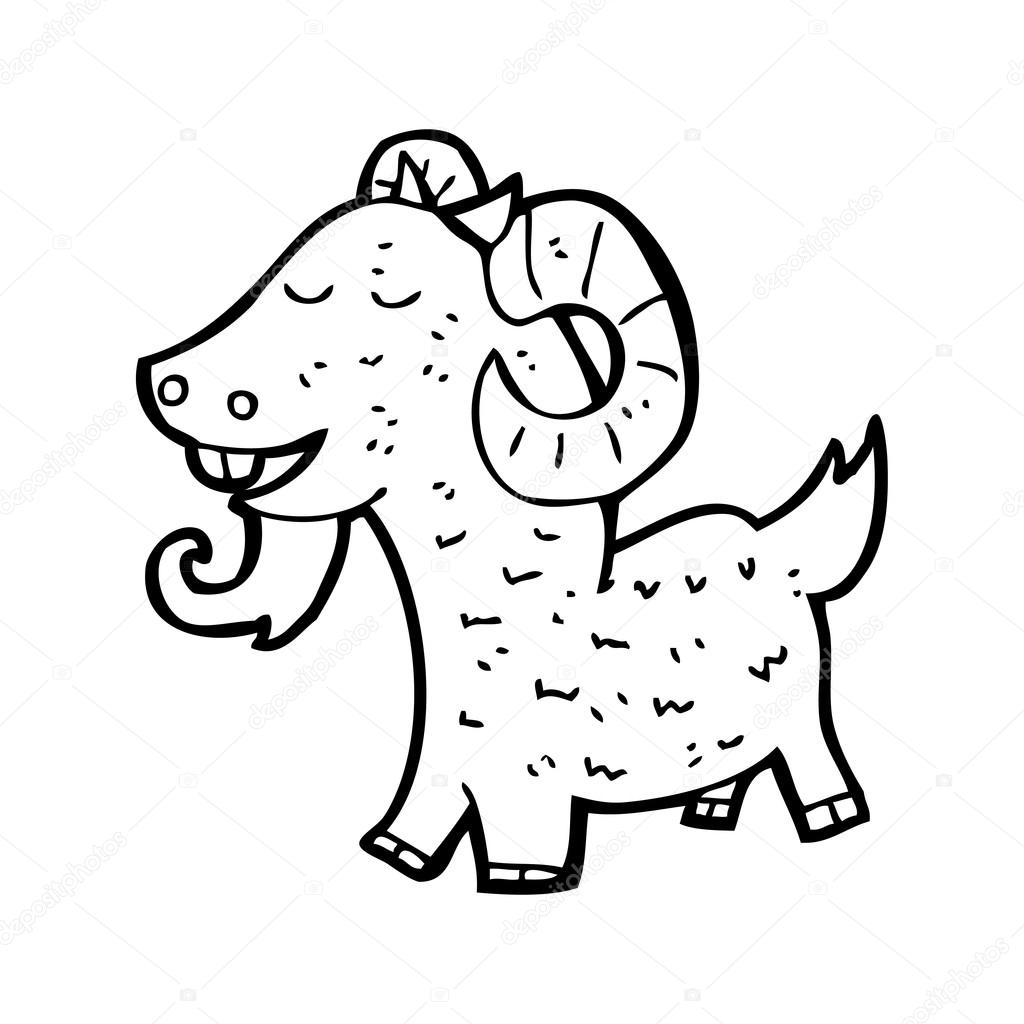 Happy goat cartoon — Stock Vector © lineartestpilot #19766557 for happy goat drawing  113cpg