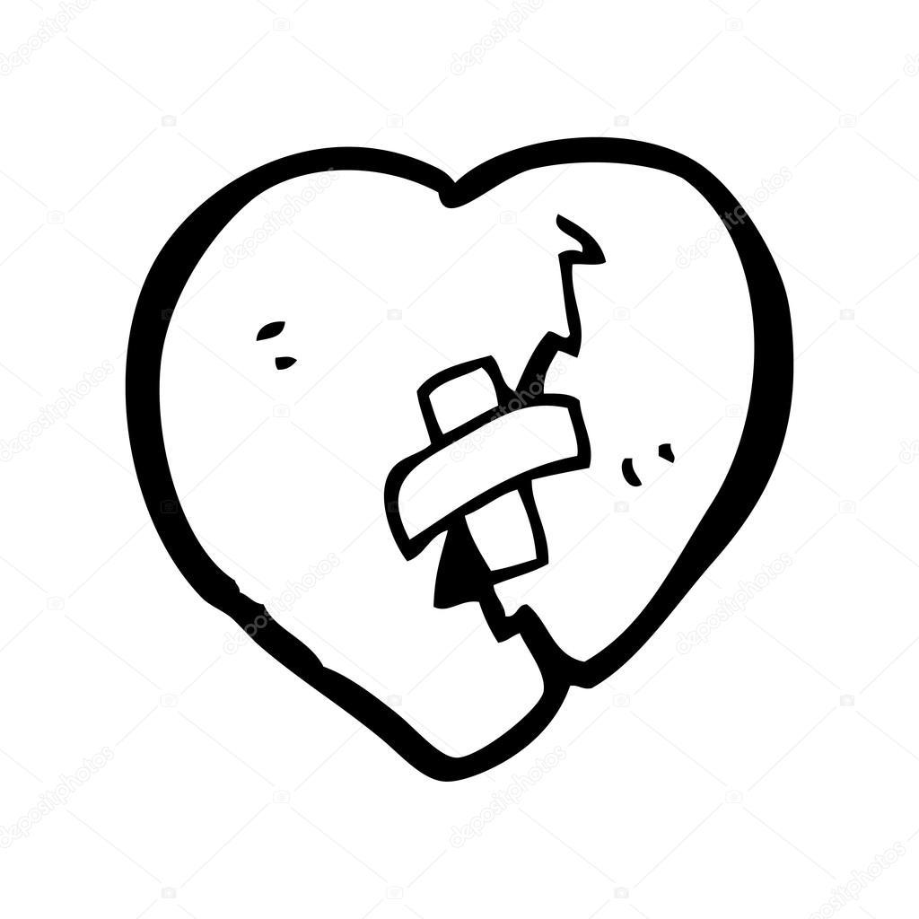 Desenho De Coração Partido