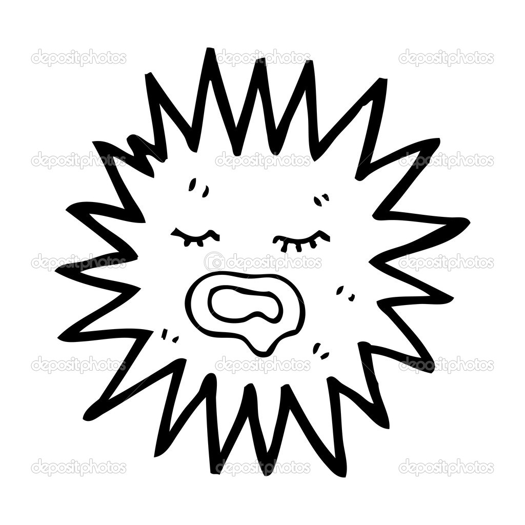 sea urchin cartoon stock vector lineartestpilot 19766597 rh depositphotos com Shark Clip Art Fish Clip Art