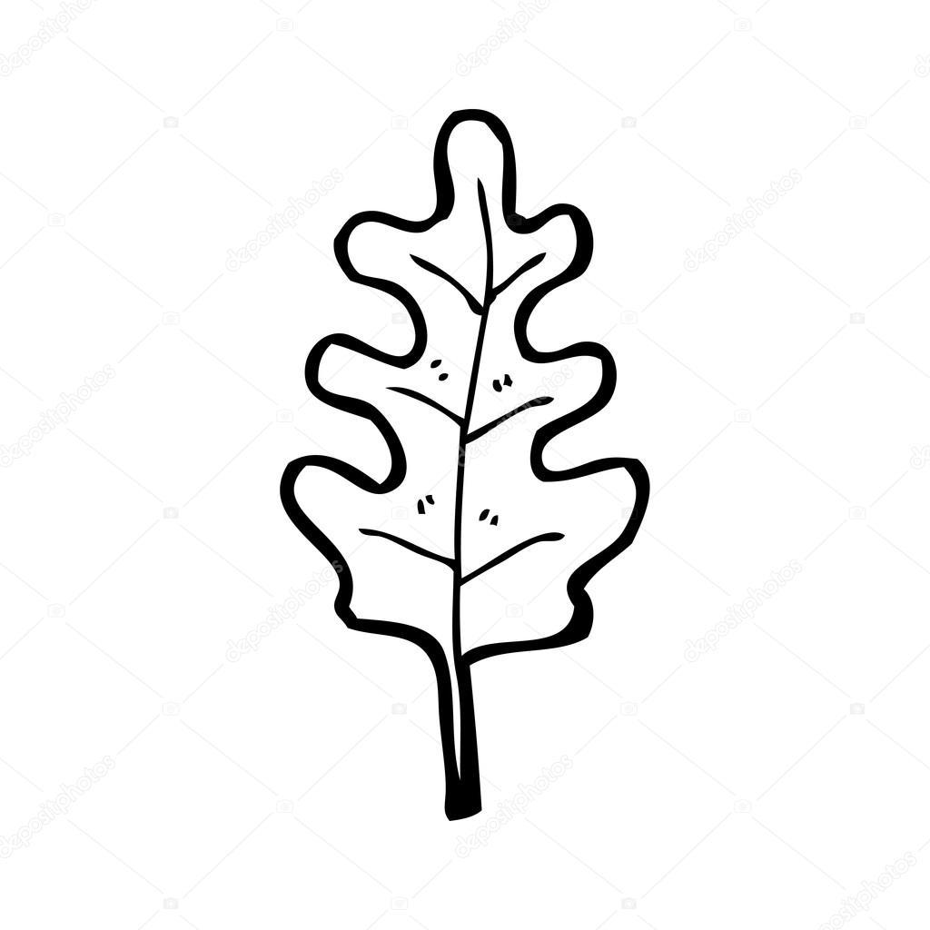 oak leaf cartoon u2014 stock vector lineartestpilot 19766599