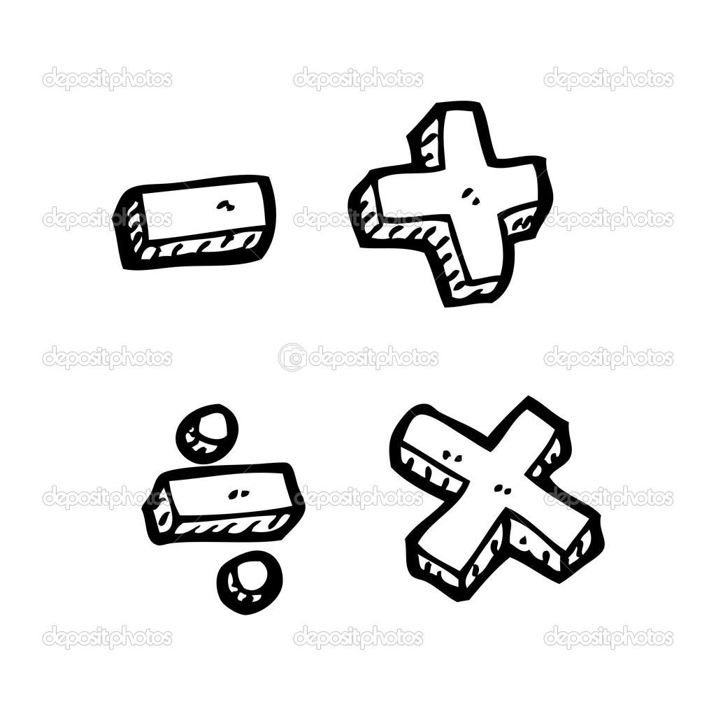 cartoon math symbols — stock vector © lineartestpilot #19767809