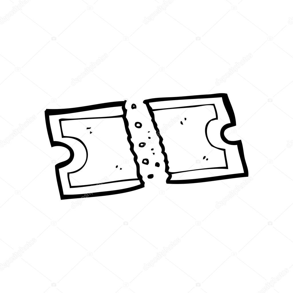 Cartoon-Film-ticket — Stockvektor © lineartestpilot #19768873