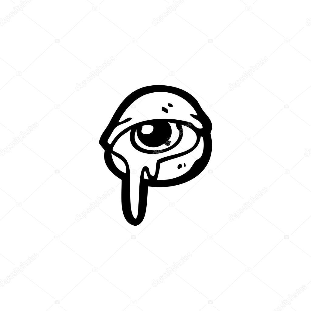 Ojo Llorando Dibujo Dibujos Animados De Ojos Llorando Vector De