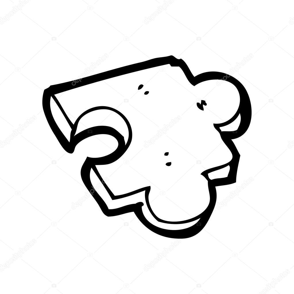 Pe a de quebra cabe a dos desenhos animados vetor de - Puzzle dessin ...