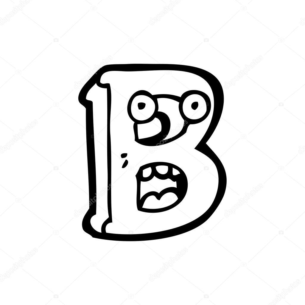 desenhos animados letra b vetor de stock lineartestpilot 19897341
