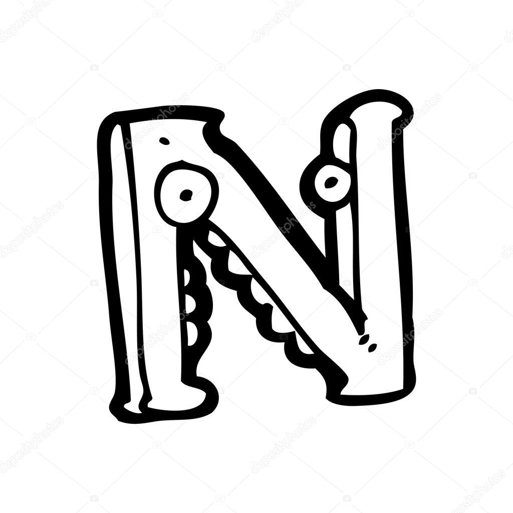 Cartoon letter n stock vector lineartestpilot 19897539 - N letter images ...
