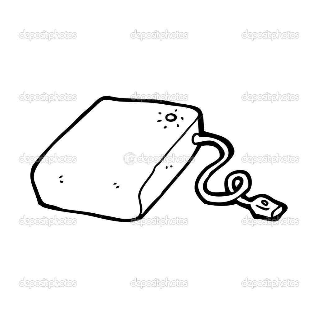 dessin anim disque dur dordinateur illustration