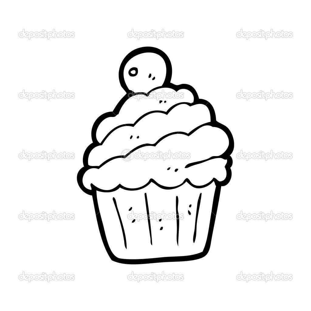 Dessin anim cupcake image vectorielle lineartestpilot - Dessin cupcake ...