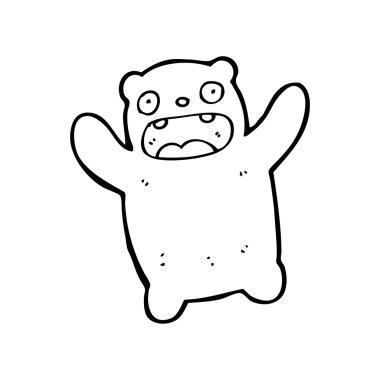 Frightened bear cartoon