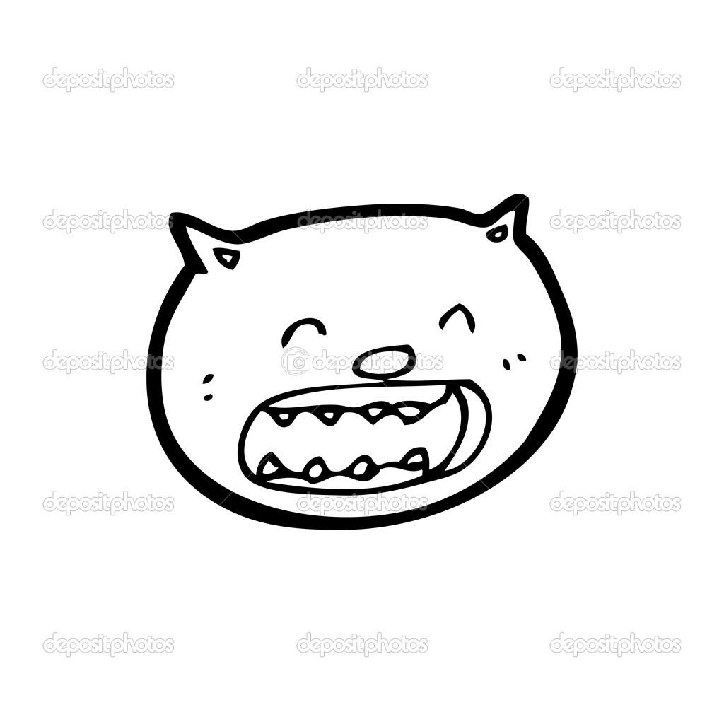 Kızgın Kedi çizgi Film Stok Vektör Lineartestpilot 20008613