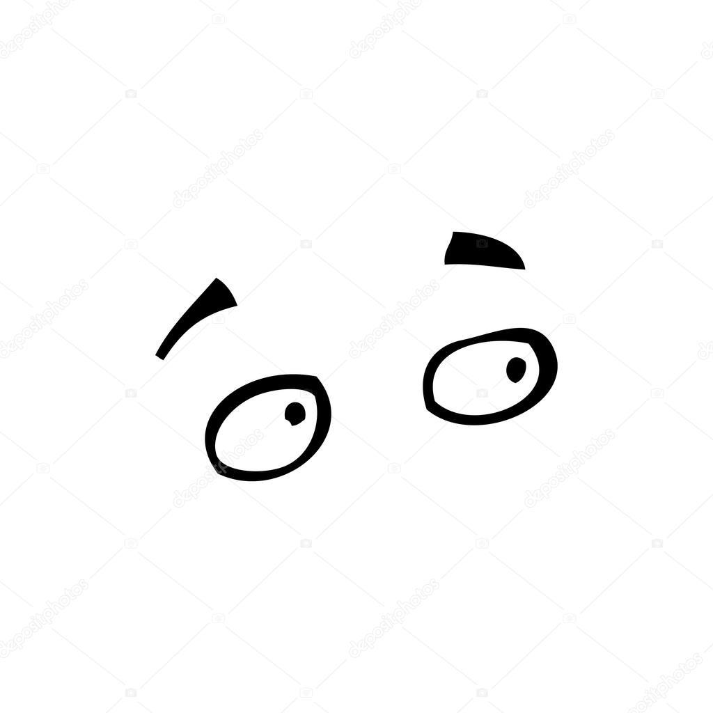 Cartone animato occhi stanchi — vettoriali stock