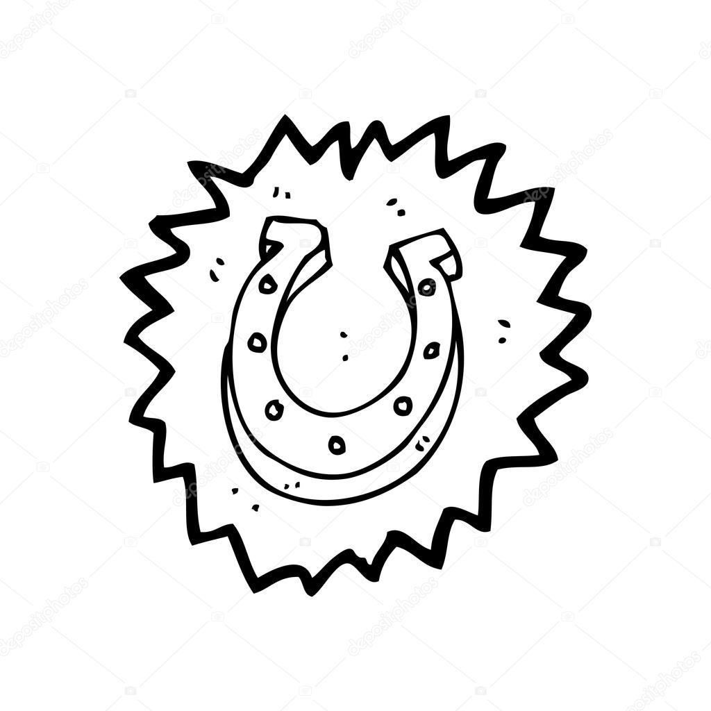 desenho animado super sorte ferradura vetores de stock