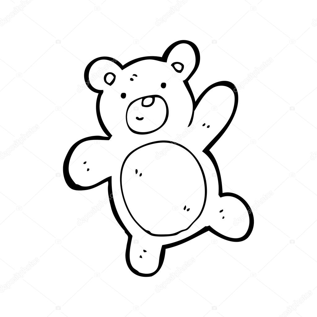 Plysovy Medved Mava Kresleny Stock Vektor C Lineartestpilot 20073067
