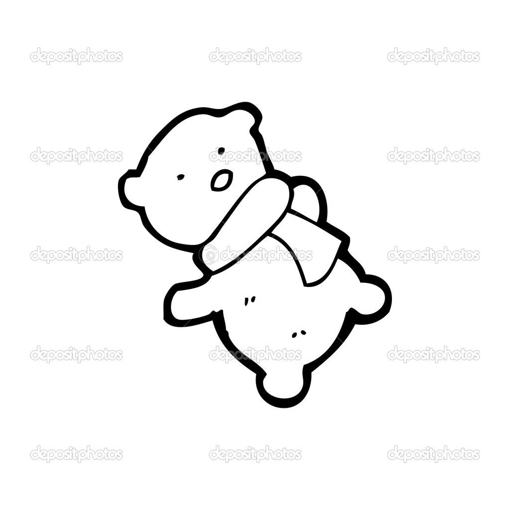 dessin anim petit nounours image vectorielle - Petit Nounours