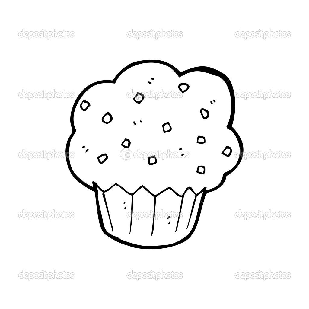 Muffin De Dessin Animé Image Vectorielle Lineartestpilot