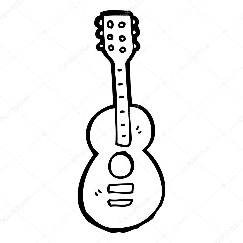 Gitar Karikatür Stok Vektör Lineartestpilot 20075049