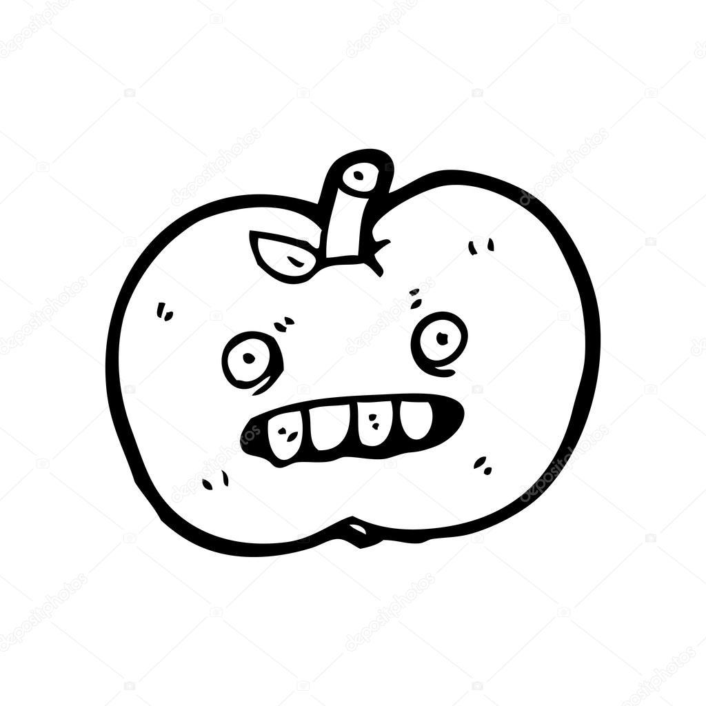 Vector Manzana Podrida Dibujos Animados De La Manzana Podrida