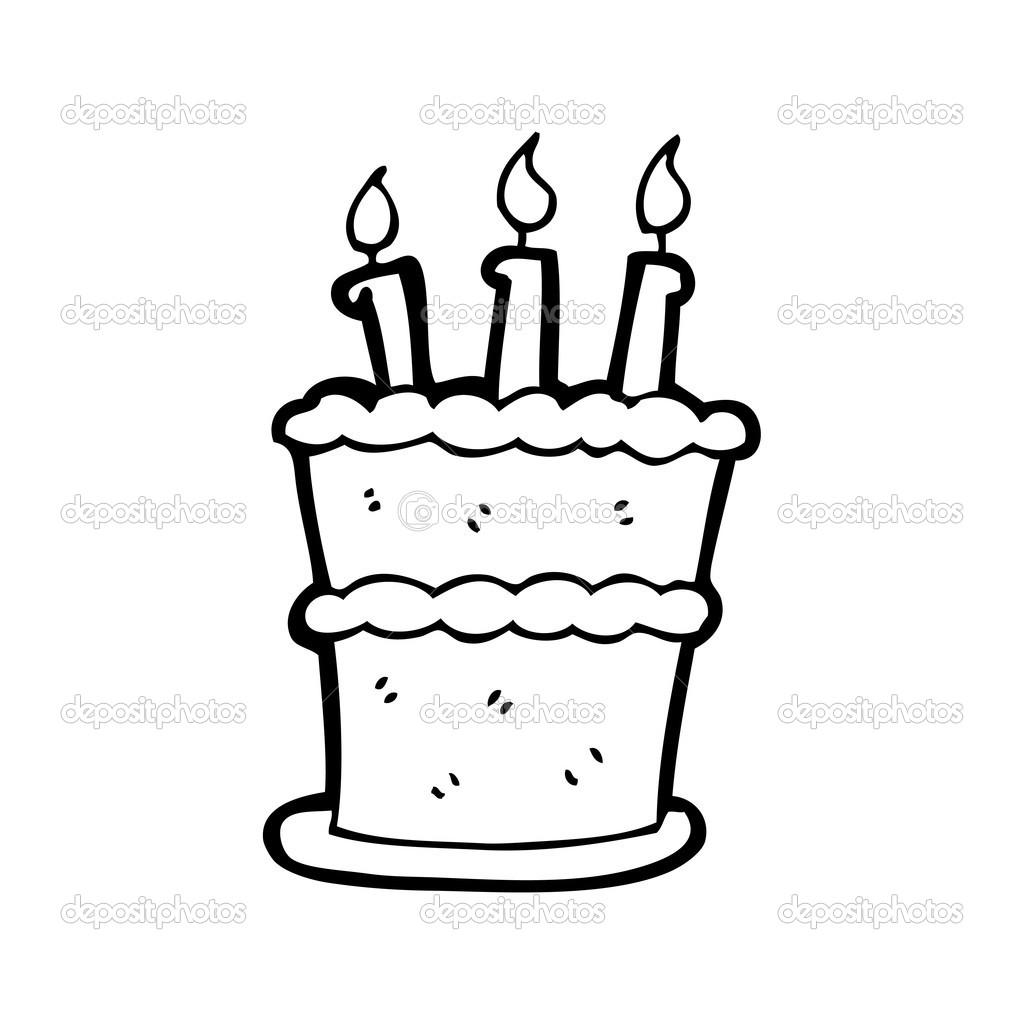 dessin gteau anniversaire image vectorielle - Dessin Sur Gateau