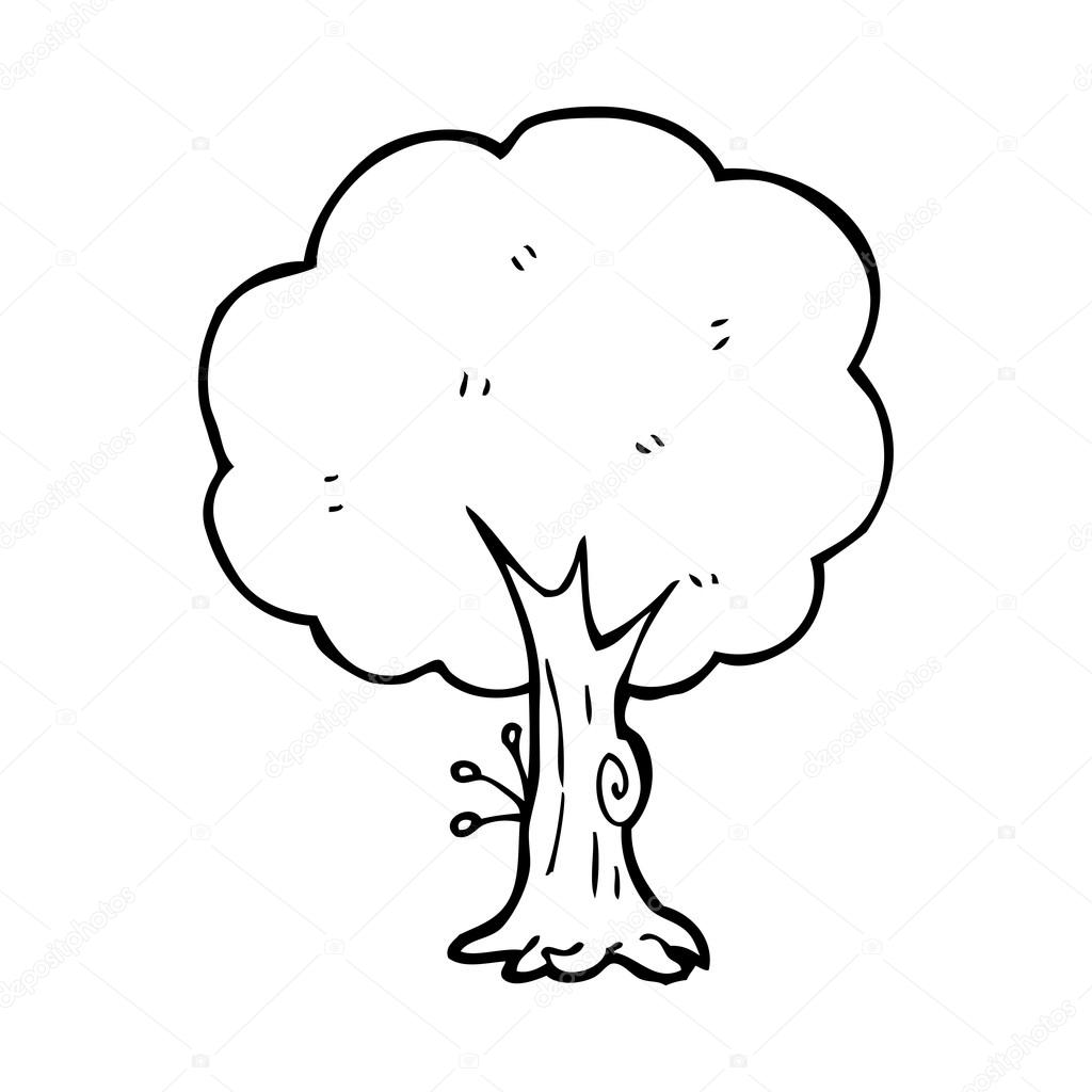 árvore Desenho Animado Vetor De Stock Lineartestpilot 20077399