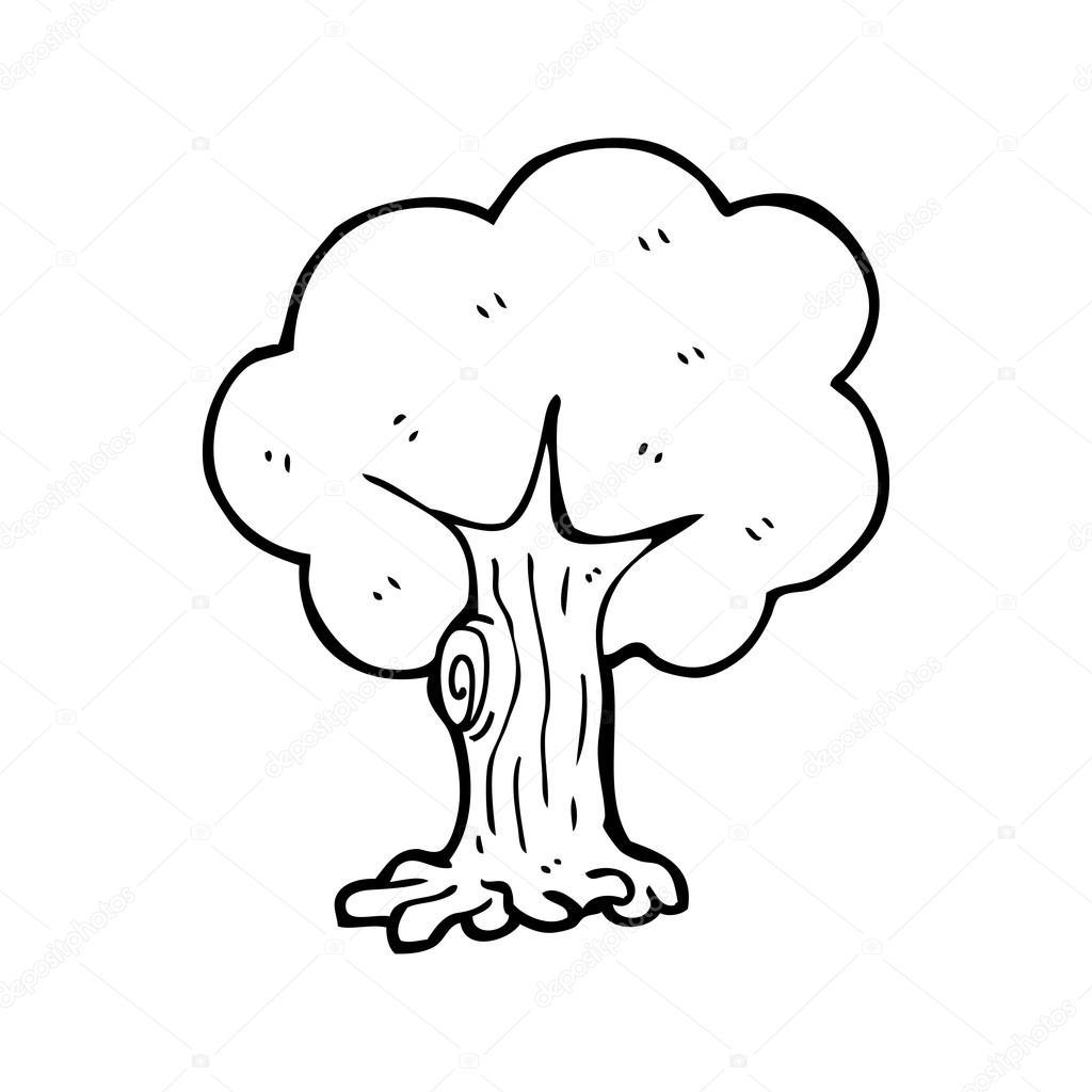 árvore Desenho Animado Vetor De Stock Lineartestpilot 20077403