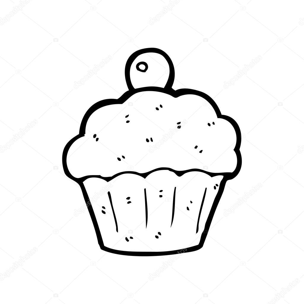 desenho de cupcake vetor de stock lineartestpilot 20077453