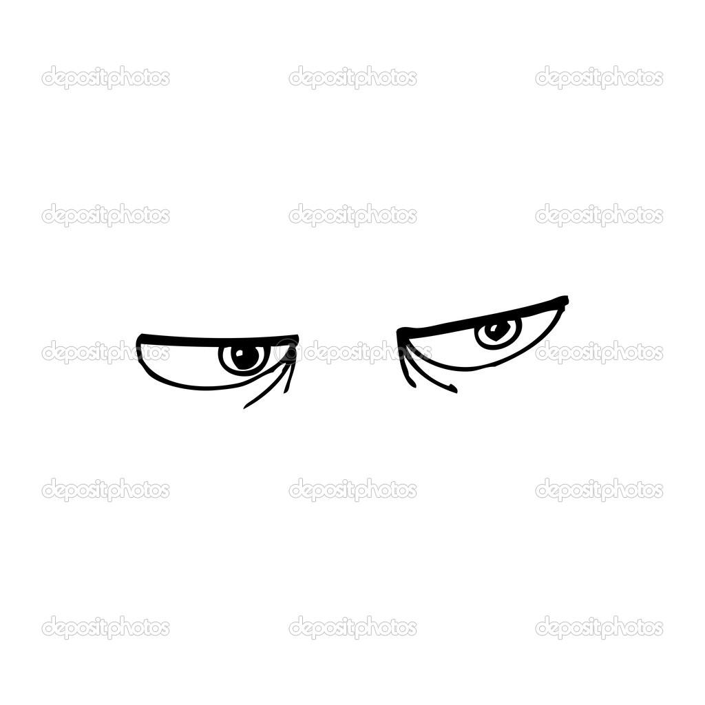 evil cartoon eyes - HD1024×1024