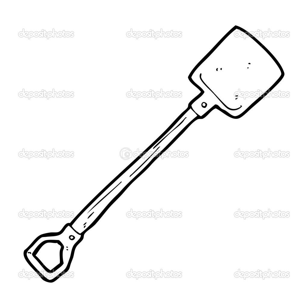 Pala De Dibujos Animados Vector De Stock Lineartestpilot 20079707
