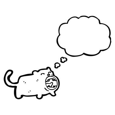 Funny yawning cat