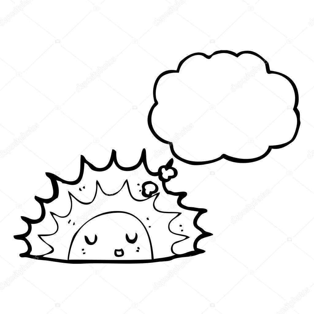 Line Drawing Sunrise : Sunrise cartoon — stock vector lineartestpilot