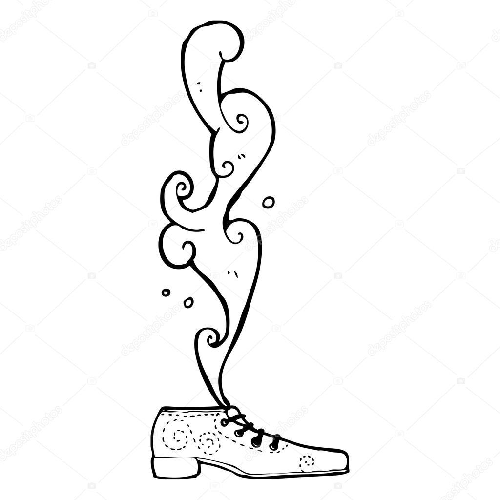 Imágenes Animadas De Zapatos Para Colorear Zapato Apestoso De