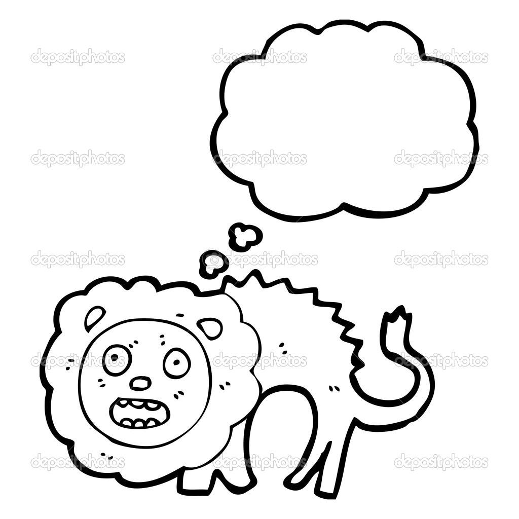 Cowardly Lion Stock Vector Lineartestpilot 20276195