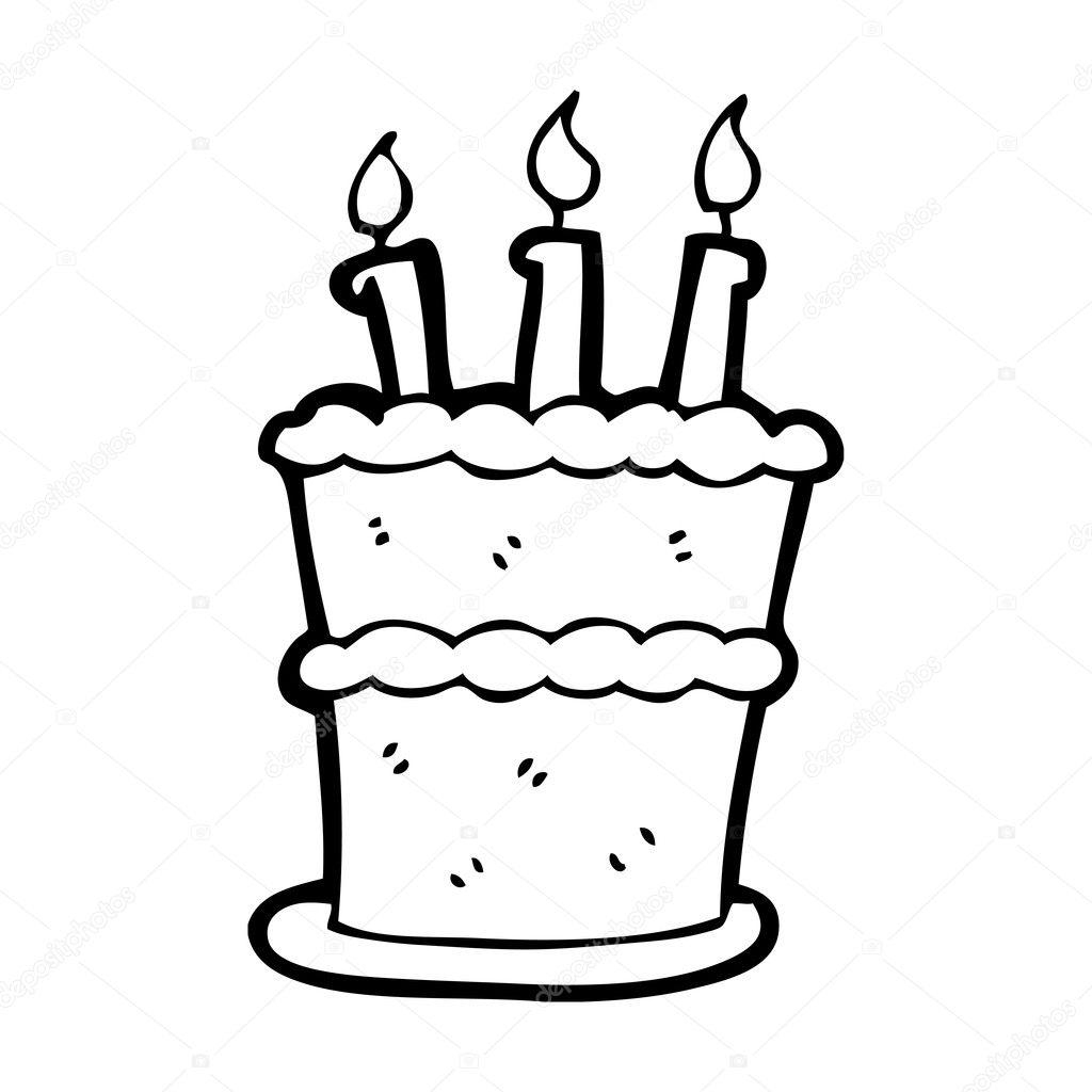 Célèbre gâteau d'anniversaire avec bougies — Image vectorielle #20290247 QQ42