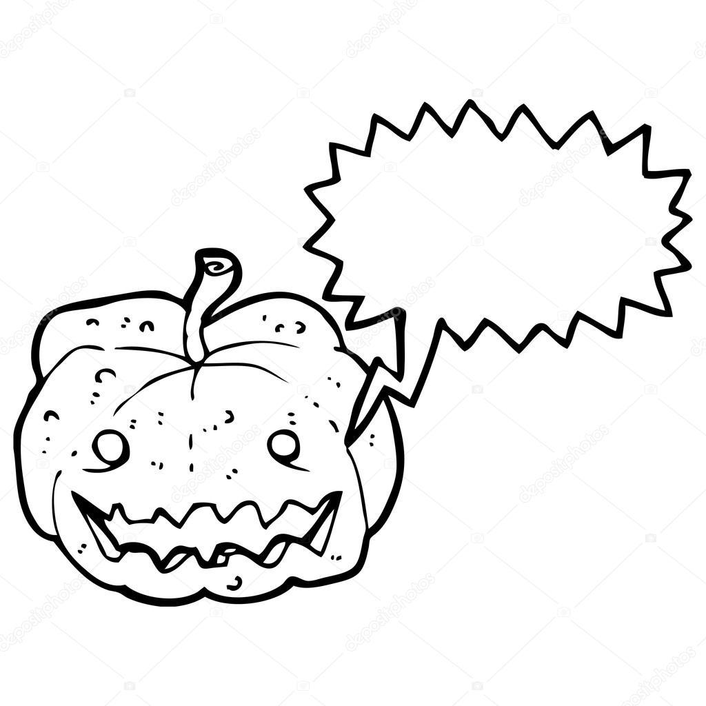 calabaza de halloween espeluznante — Archivo Imágenes Vectoriales ...