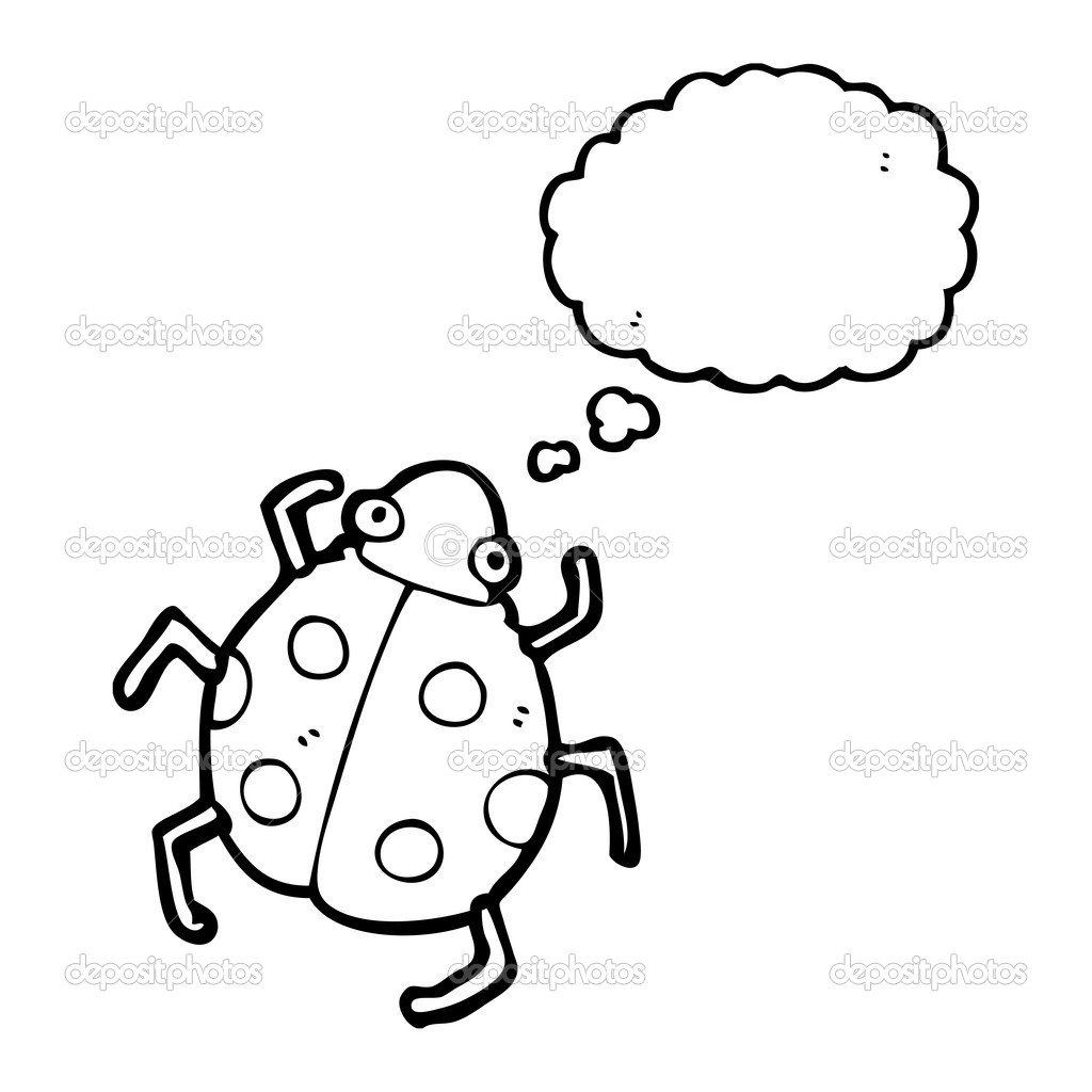 Mariquita linda vector de stock lineartestpilot 20299723 for Cute ladybug coloring pages
