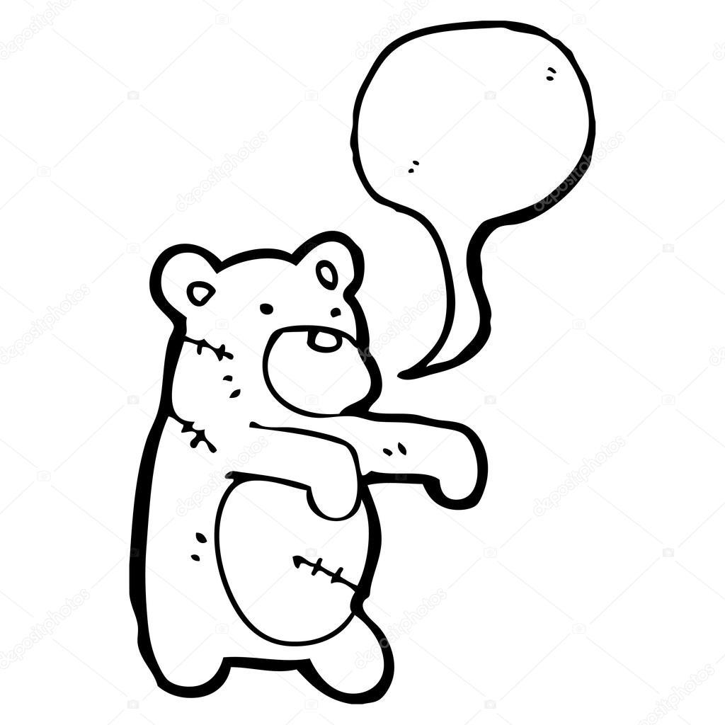 Zombie Teddy Bear Stock Vector Lineartestpilot 20299961