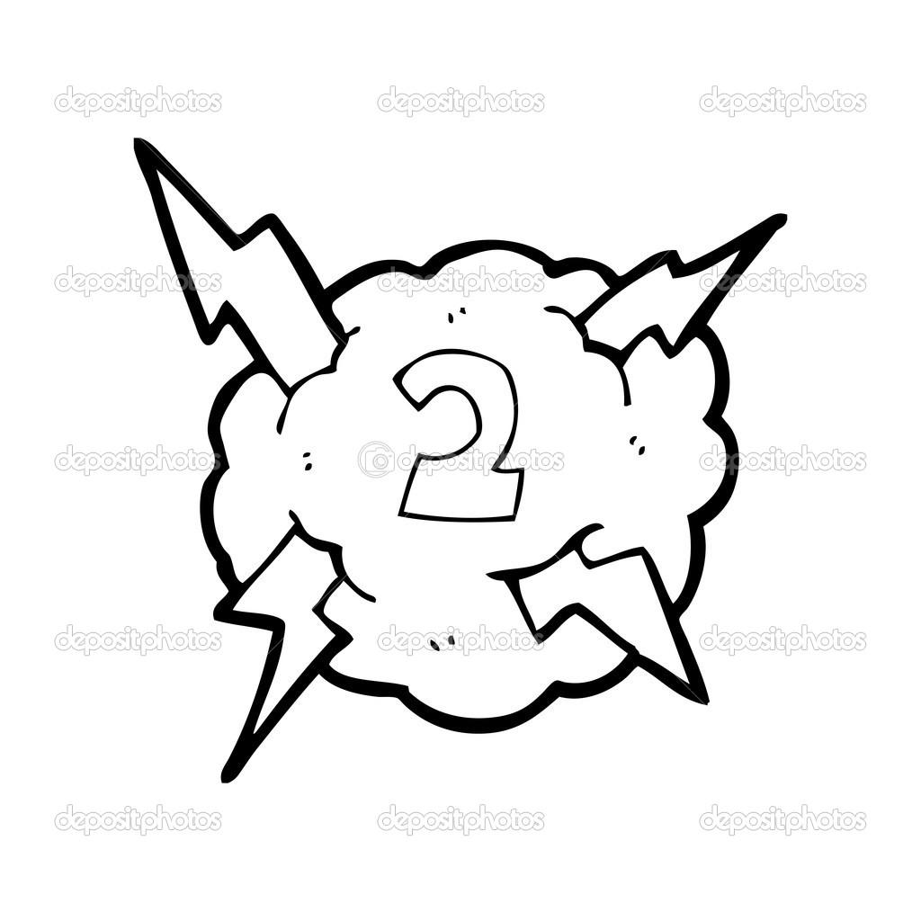 Nummer 2-Wolke — Stockvektor © lineartestpilot #20303777