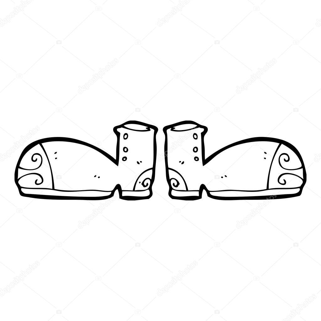 Lustige Schuhe Stockvektor C Lineartestpilot 20339303